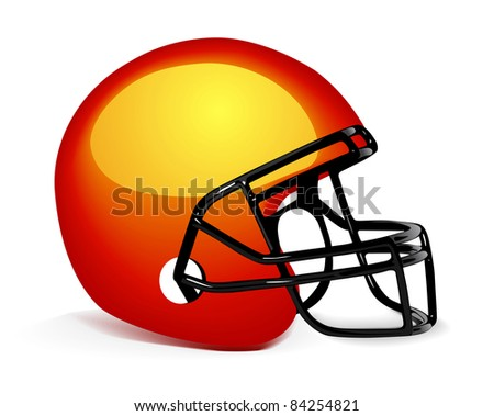 Football Helmet on white - stock vector