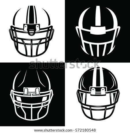 football helmet sport icon set