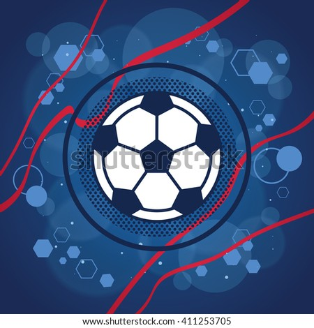 Football icon on blue background vector - Shutterstock ID 411253705