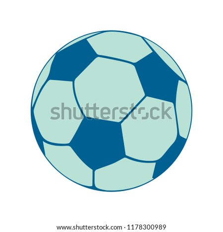 football icon, vector soccer ball - sport illustration, play game symbol - game icon