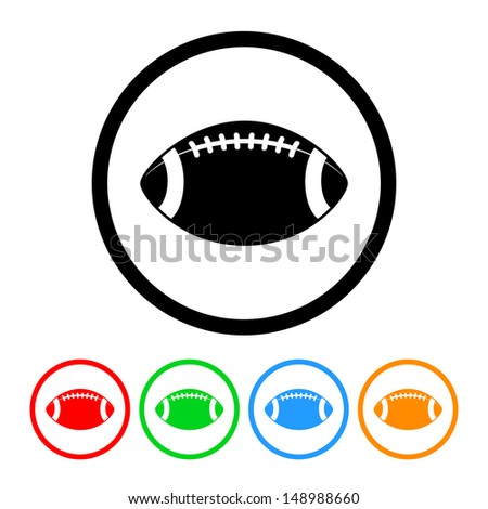 stock-vector-football-icon-with-four-color-variations