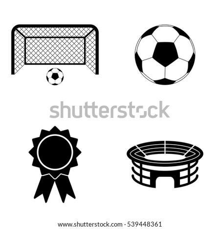 Football icons  vector set