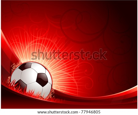 Football illustration background with soccer ball