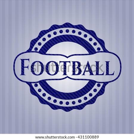 Football jean or denim emblem or badge background