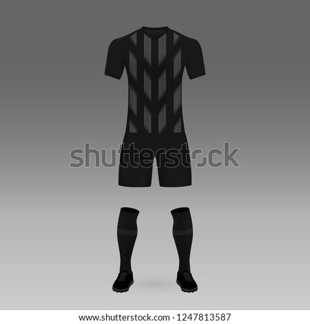 football kit Eintracht Frankfurt, shirt template for soccer jersey. Vector illustration