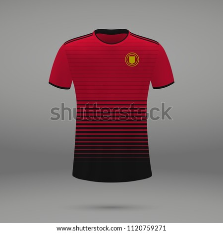 football kit Manchester United 2018, shirt template for soccer jersey. Vector illustration