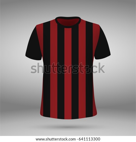 football kit of milan  t shirt
