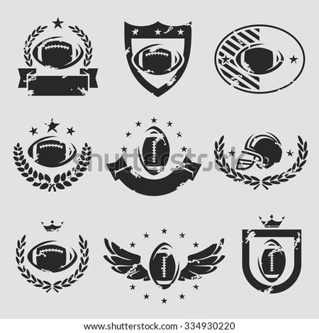 football labels and icons set