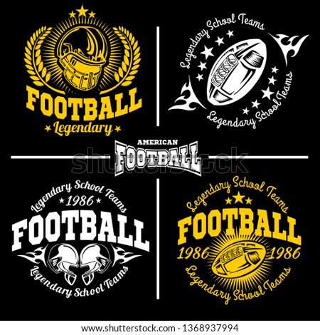 Football labels and icons set. Vector set