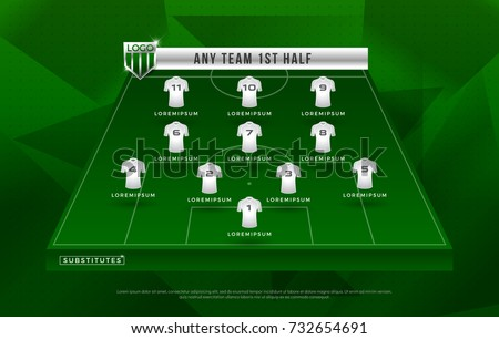 soccer line up template