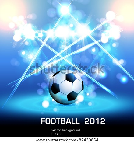 football light poster, easy editable, you can change ball to your product - stock vector
