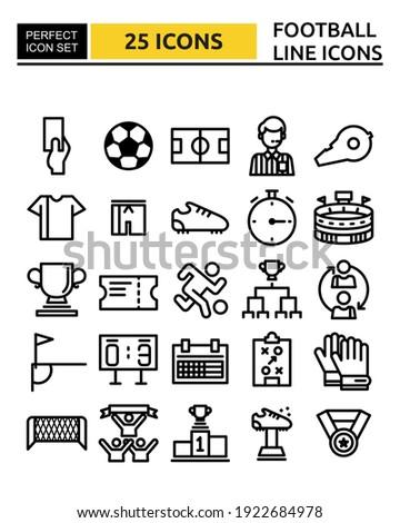 football line icon set vector