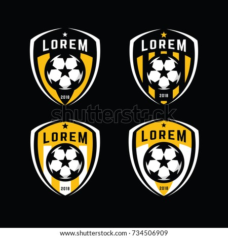 Football logo badges set. Good for football team and other sports team.