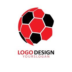 Football logo design,Vector.