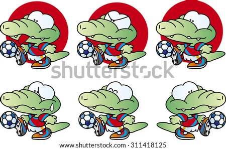 football mascot  crocodile