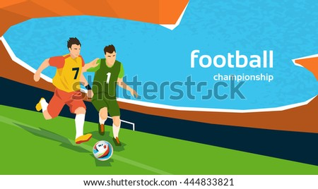 football match two players