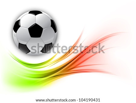 football on the abstract shape