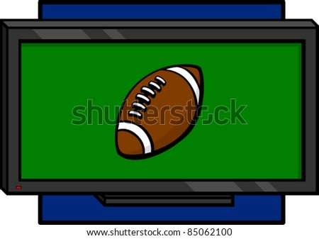 football on tv - stock vector