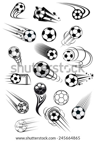 football or soccer balls with