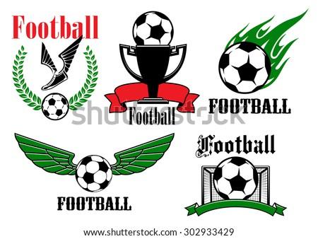 football or soccer game emblems