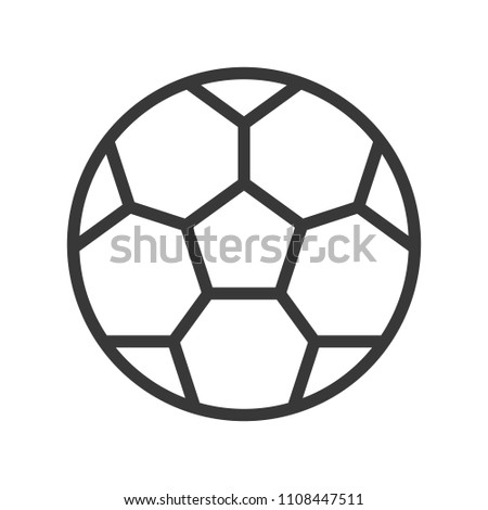 football Outline icon soccer related