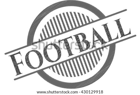 Football pencil emblem