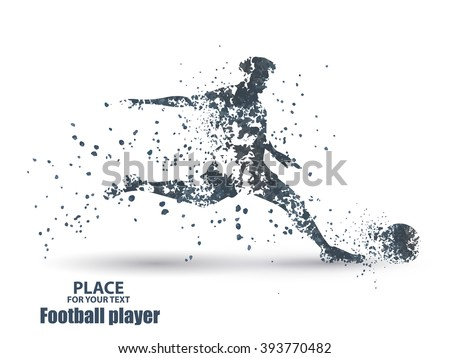 football player  kick a ball