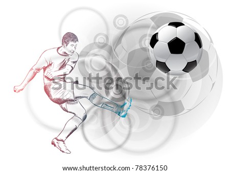 football player on the abstract background