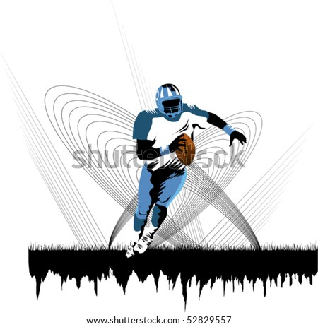 football player running with