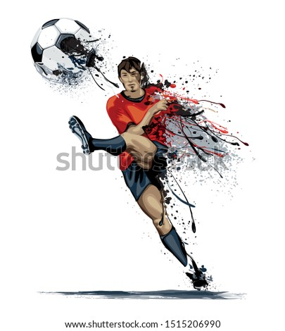 Football Player (Soccer Player) Vector