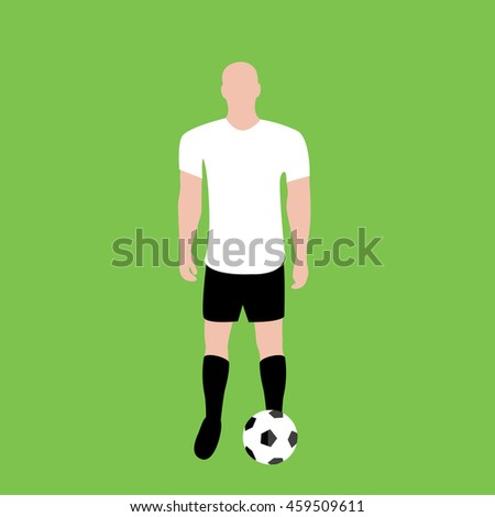 football player standing with a