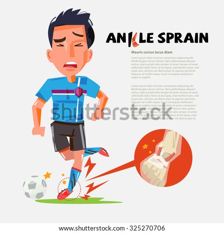 football player with sprained
