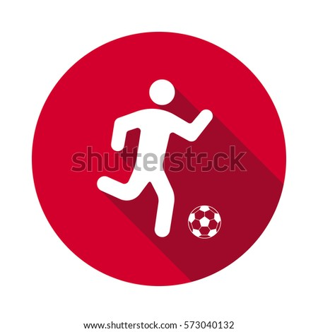football players flat icon