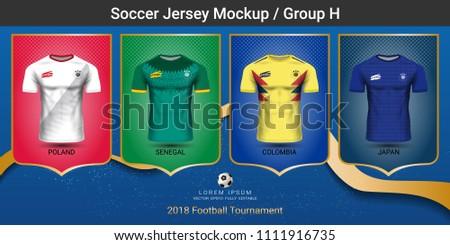 0ec2c605001 Color Soccer Jersey Vectors - Download Free Vector Art