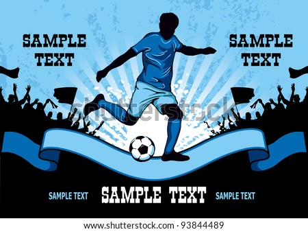 Football poster with soccer player and place for your text