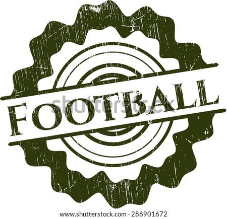Football rubber grunge stamp