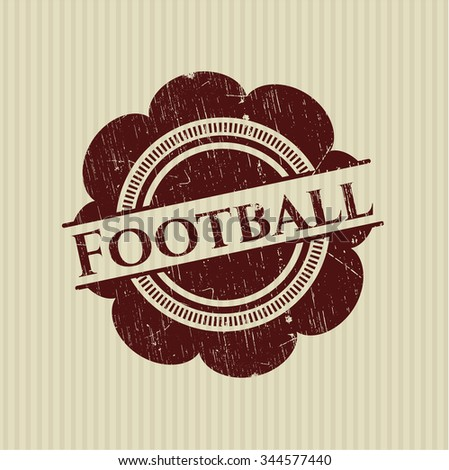 Football rubber stamp with grunge texture