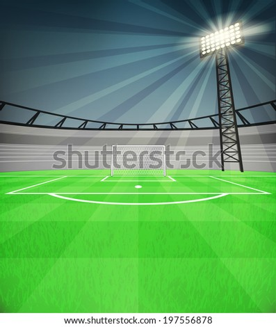 football shooter goal view with