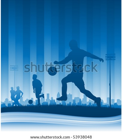 Football soccer background