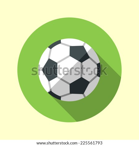 football soccer ball icon long