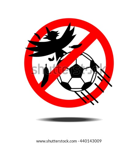 football soccer do not shoot