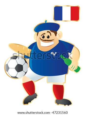 Football / soccer mascot France. Vector