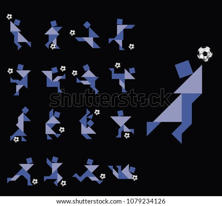 football soccer players in