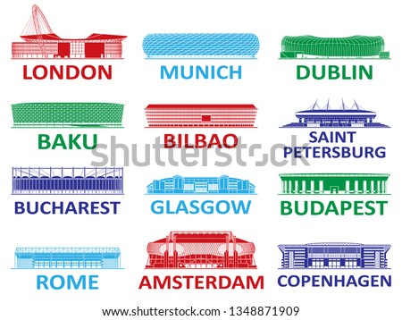 Football stadium. European championship 2020.