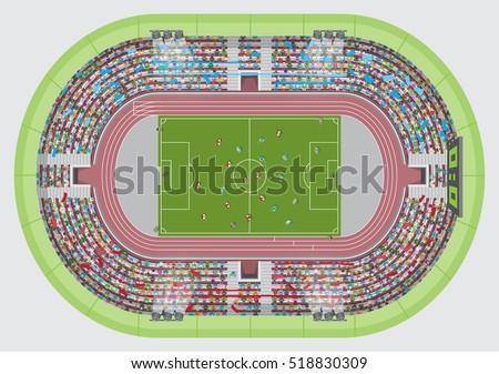 football stadium top view