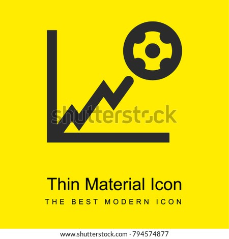 Football stats graphic bright yellow material minimal icon or logo design