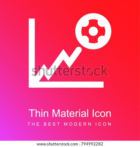 Football stats graphic red and pink gradient material white icon minimal design