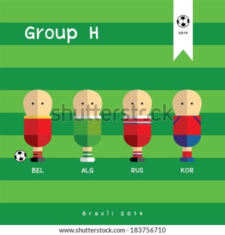 football team players vector