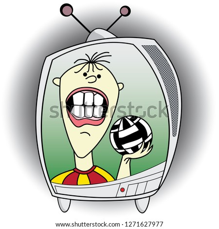 football television sports Stok fotoğraf ©