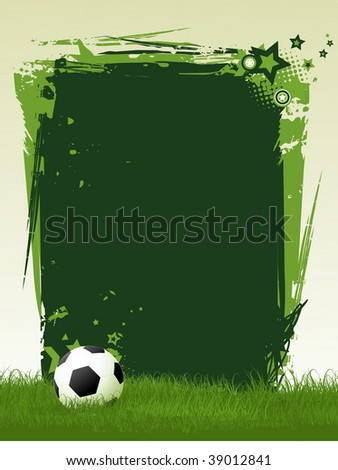 football vector art with space for text - stock vector